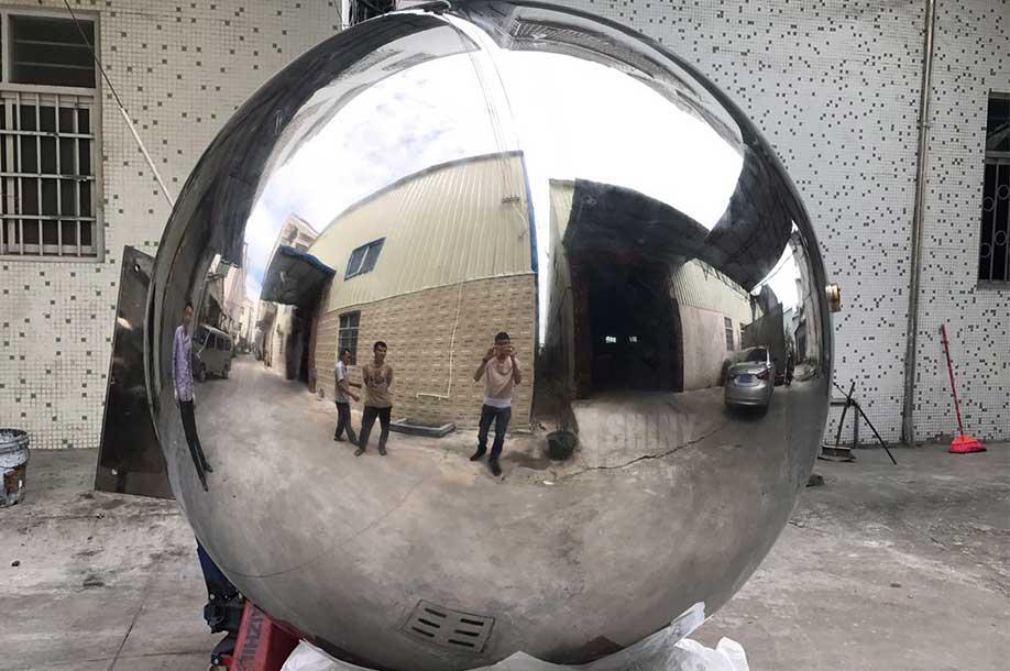 Beau 1800mm Large Stainless Steel Garden Spheres