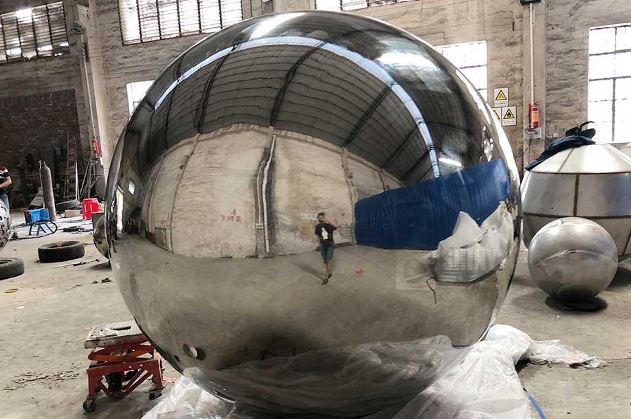 2200mm Large Metal Garden Spheres Shiny Balls Ltd
