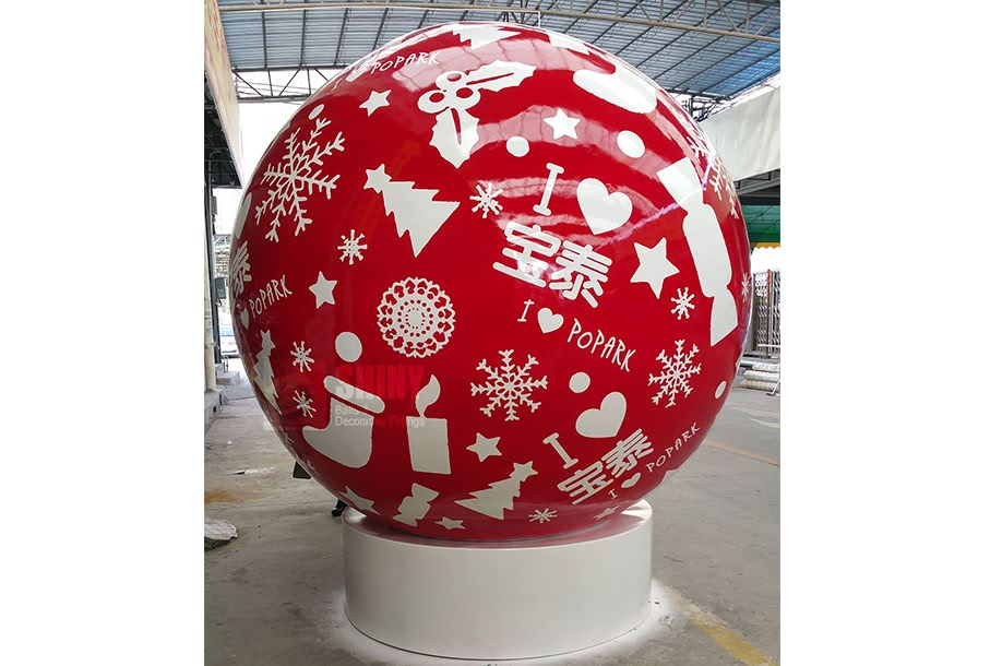 Large Christmas Decorative Steel Spheres SHINY BALLS LTD Classy Decorative Globe Balls