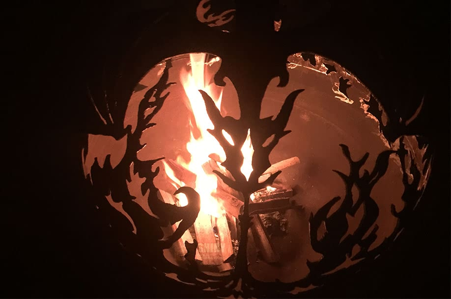 Dragon Fire Pit Sphere. fire pit ball with dragon fly scene - Dragon Fire Pit Sphere Fire Pit Spheres Supply SHINY BALLS LTD