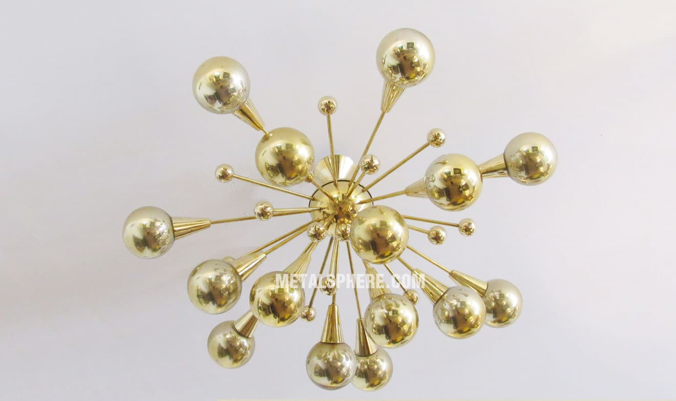 Hollow Brass Balls Lampshade For Sale Shiny Balls Ltd